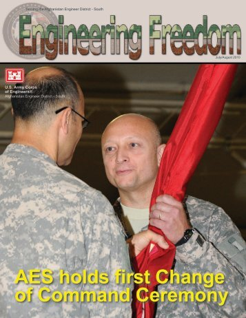 AES holds first Change of Command Ceremony - Afghanistan ...