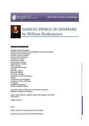 HAMLET, PRINCE OF DENMARK by William ... - E-angielski.com