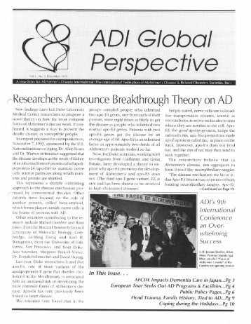 an introduction to the issue of alzheimers disease Ad is presently becoming an issue of  from the several investigations made on alzheimer's disease it is clearly identified that there  introduction.