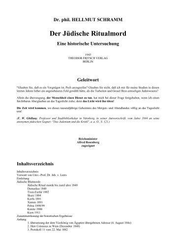 Der Jüdische Ritualmord - Weltordnung.ch