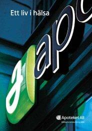 Hållbarhetsredovisning 2009 - Apoteket