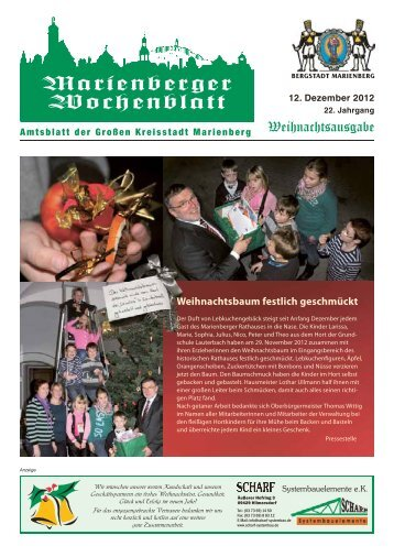 Marienberger Wochenblatt - Bergstadt Marienberg