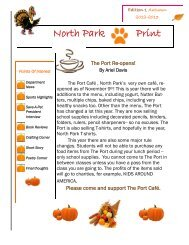Fall Edition 1 North Park Print - Lockport City School District