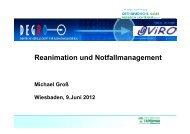 Reanimation und Notfallmanagement - DEGRO