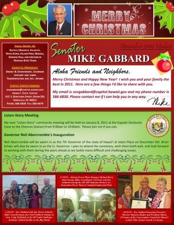 MIKE GABBARD MIKE GABBARD - Hawaii State Legislature