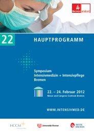 Hauptprogramm 2012 - Symposium Intensivmedizin + Intensivpflege