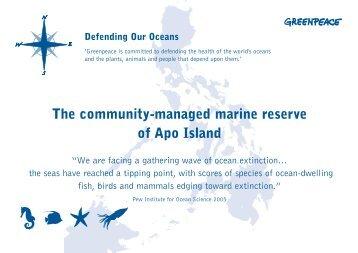 The community-managed marine reserve of Apo Island - Greenpeace