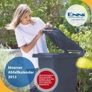 Moerser Abfallkalender 2013 - ENNI