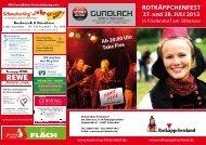 ROTKÄPPCHENFEST 27. und 28. JULI 2012 - Tourismus Frielendorf