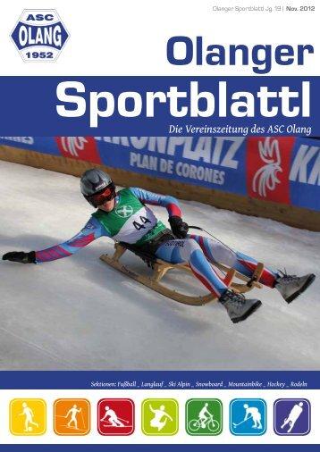 Die Vereinszeitung des ASC Olang - Amateursportclub Olang