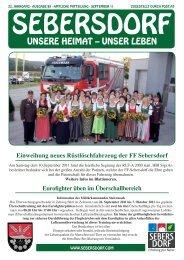 UNSERE HEIMAT – UNSER LEBEN - Gemeinde Sebersdorf