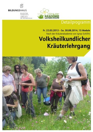 Detailprogramm Volksheilkundlicher ... - Kloster Neustift