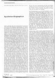 Apotheker-Biographien (3) - Pharmazeutische Gehaltskasse