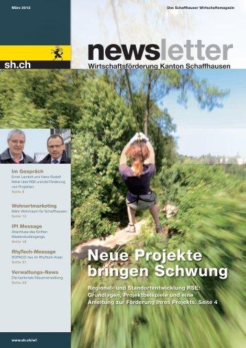 Neue Projekte bringen Schwung - Wirtschaftsförderung Kanton ...
