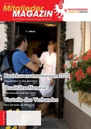 MAGAZIN - Privatvermieter Verband Tirol
