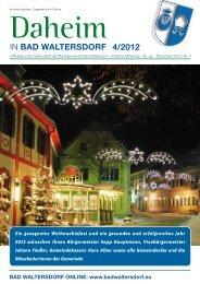 Ausgabe Dezember 2012 - Gemeinde Bad Waltersdorf
