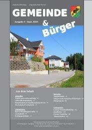 WILLKOMMEN in der Gemeinde - Piberbach