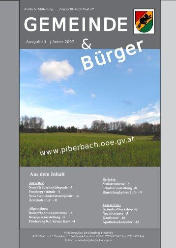 Gemeindezeitung Jänner 2007 - Piberbach