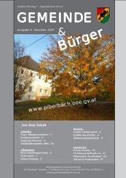 Gemeindezeitung Nov/Dez. 2007 - Piberbach - Land Oberösterreich