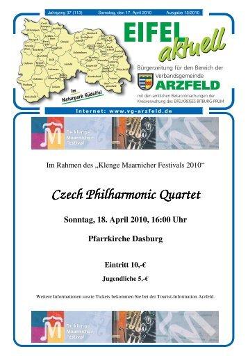 Ausgabe 15 - Verbandsgemeinde Arzfeld
