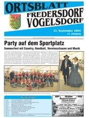 22. September 2005 - Heimatverein Fredersdorf-Vogelsdorf e.V.