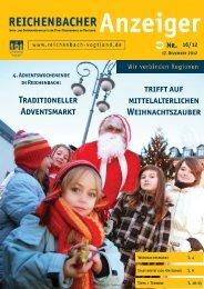 Traditioneller Adventsmarkt trifft auf mittelalterlichen ... - Reichenbach