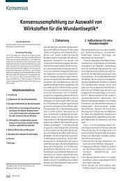 Konsensusempfehlung zur Auswahl von ... - Werner Sellmer