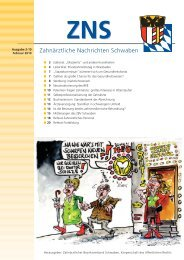 Zahnärztliche Nachrichten Schwaben 2/2010 - Zahnärztlicher ...