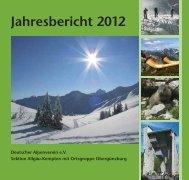 Jahresbericht 2012 - Deutscher Alpenverein Sektion Kempten