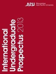 2013 international undergraduate prospectus - APU Ritsumeikan ...
