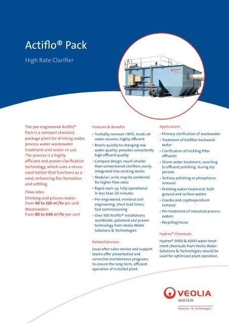 Actiflo™ Pack - Veolia Water Solutions & Technologies