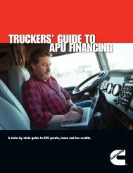 TRUCKERS' GUIDE TO APU FINANCING - Cummins Onan