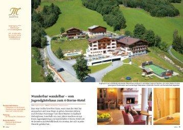 Wunderbar wandelbar – vom Jugendgästehaus zum ... - Hotel Marten