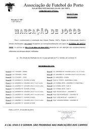 Marcações Jogos Futebol 5 a - Associação de Futebol do Porto