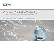 Controlled Cavitation Technology - A Next generation Mixing and