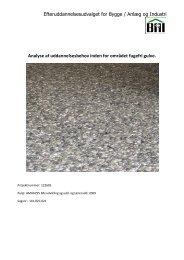 Analyse af uddannelsesbehov inden for omraadet fugefri gulve