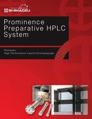 Prominence Preparative HPLC System - Shimadzu Scientific ...