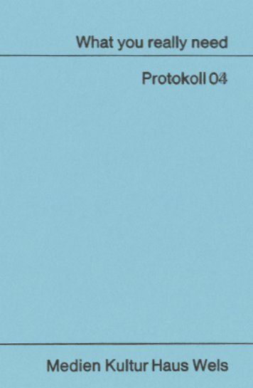 Download Protokoll 04 Dokumentation Woche 04 - What You Really ...