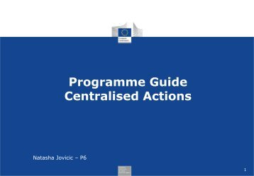 Programme Guide Centralised Actions Youth in ... - EACEA - Europa