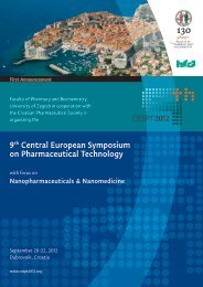 9th Central European Symposium on Pharmaceutical ... - cespt 2012