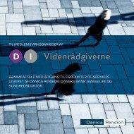 rammeaftale med adgang til produkter og services ... - Danica Pension