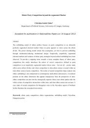 Ethnic Party Competition beyond the segmented Market Christina ...