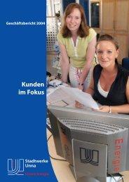 Geschäftsbericht 2004 - Stadtwerke Unna