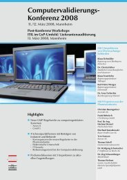 Computervalidierungs- Konferenz 2008 - Kereon AG