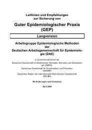 Guter Epidemiologischer Praxis (GEP)