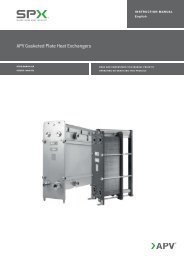 APV Gasketed Plate Heat Exchangers - SPX