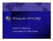 Writing the APUS DBQ - Advanced Academic Programs