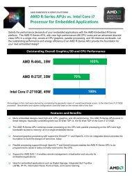 AMD R-Series APUs vs. Intel Core i7 Processor for Embedded ...