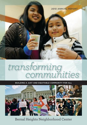 transforming communities - Bernal Heights Neighborhood Center