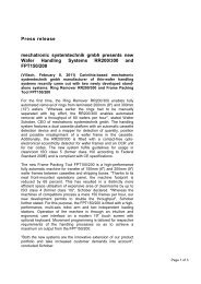 Press release mechatronic systemtechnik gmbh ... - we can handle it